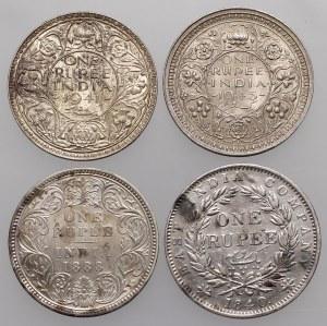 India - British, Rupee 1840-1945 (4pcs)