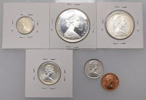 Kanada, zestaw monet 1967 rok - stempel polerowany (6szt)