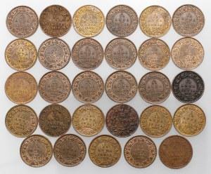 India - British, 1/12 anna 1855-1932, lot (29pcs)