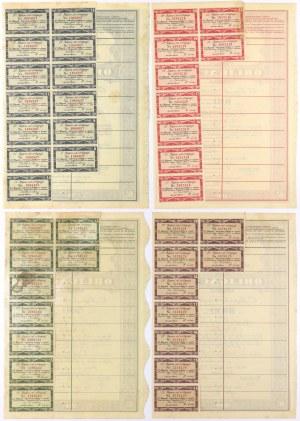 6% Poż. Narodowa 1934, KOMPLET Obligacji - od 50 do1.000 zł (4szt)