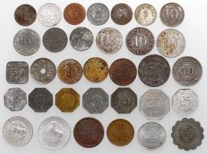 Niemcy / Polska, zestaw monet zastępczych (33szt)
