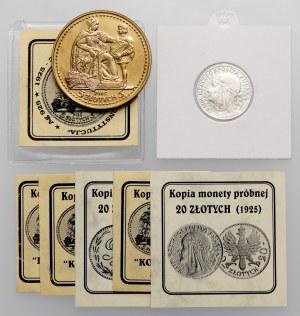 Parchimowicz, KOPIE prób II RP - 20 złotych 1925 i 5 złotych 1925 (2szt)