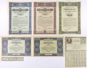 II RP - zestaw obligacji (6szt)
