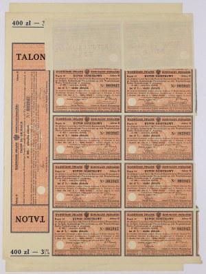Poznań, Poż. Woj. Zw. Komunalnego 1927 r., Obligacja na 400 zł