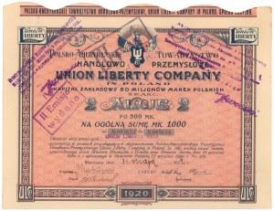 UNION LIBERTY Polsko-Amerykańskie Tow. Handlowo-Przem., 2x 500 mk