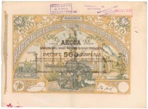 Warszawska Sp. Budowy Parowozów, Em.2, Ser.I, 500 mkp 1921