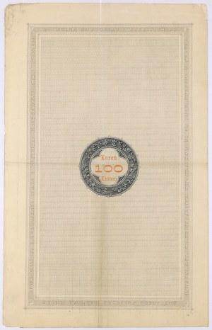 Lwów, Poż. Królestwa Galicyi... 1893 r. Obligacja na 100 koron