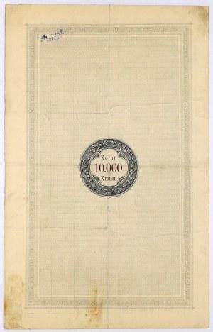 Lwów, Poż. Królestwa Galicyi... 1893 r. Obligacja na 10.000 koron