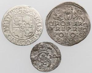 Zygmunt III Waza, Trojak - dwudenar 1598-1620, w tym rzadsze (3szt)