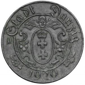 Gdańsk 10 fenigów 1920 cynk - 56 perełek - typ M