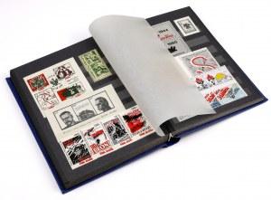 Solidarność, KOLEKCJA znaczków i cegiełek w klaserze (~170szt)