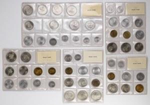 Zestawy monet PRL w oryginalnych zgrzewkach (5szt)