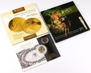 Zestawy polskich monet obiegowych (3szt)