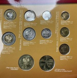 Polskie Monety Obiegowe + 2 złote Jan Paweł II - zestaw (11szt)
