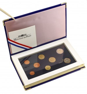 France, 2002 annual set - from 1 cent to 2 euro (8pcs)