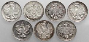 SREBRO medaliki Królowie Polski (7szt)