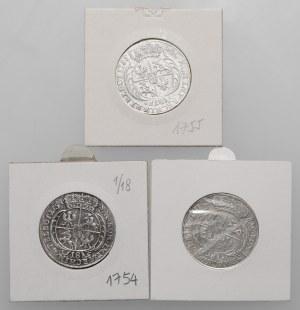 August III Sas, Orty Lipsk 1754-1756 (3szt)