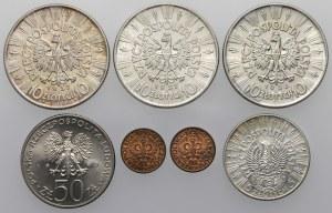 Zestaw ładnych monet - głównie II RP (7szt)