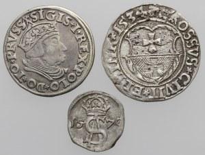 Zygmunt I Stary, TROJAK Gdańsk, Grosz Elbląg i Dwudenar Zygmunta II (3szt)