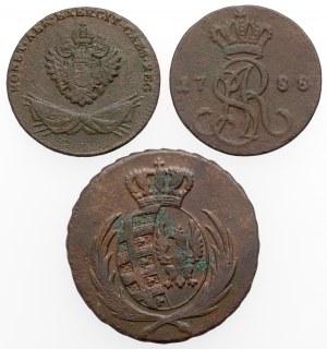 Zabory + Poniatowski, Grosze i Trojak 1788-1812 (3szt)