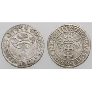 Zygmunt I Stary, Grosz Gdańsk 1535-1539 (2szt)