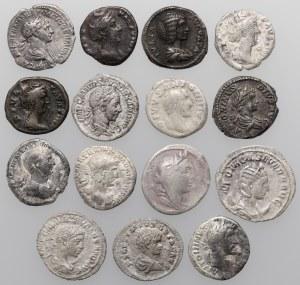 Cesarstwo rzymskie - zestaw denarów od republiki do Aleksandra Sewera (15szt)