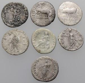 Cesarstwo rzymskie - zestaw denarów od Wespazjana do Klodiusza Albinusa (7szt)
