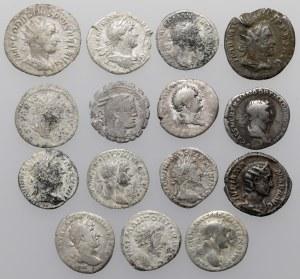 Cesarstwo rzymskie - zestaw denarów od republiki do Filipa I Araba (15szt)