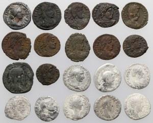 Cesarstwo rzymskie - zestaw denarów i follisów (20szt)
