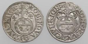 Krystyna Waza, Półtorak Ryga 1644 i 1649 (2szt)