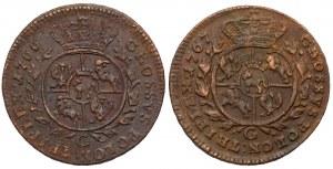 Poniatowski, Trojak 1766 i 1767 - zestaw (2szt)