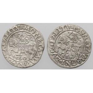 Zygmunt II August, Półgrosz Wilno 1560-1561 (2szt)