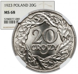20 groszy 1923 - PIĘKNE