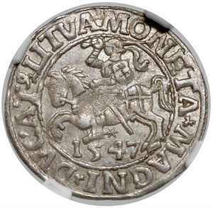 Zygmunt II August, Półgrosz Wilno 1547 - piękny