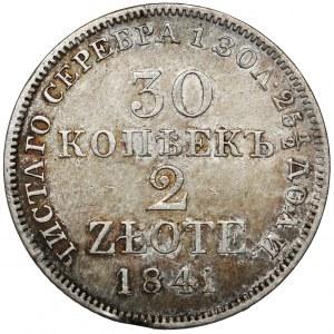 30 kopiejek = 2 złote 1841 MW, Warszawa - ostatnie