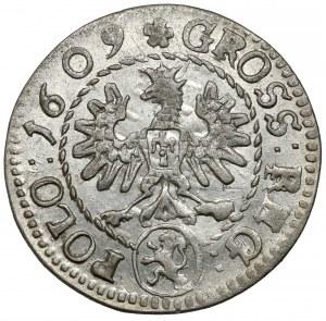 Zygmunt III Waza, Grosz Kraków 1609 - Lewart - piękny