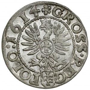 Zygmunt III Waza, Grosz Kraków 1614 - PIĘKNY