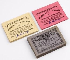 Konstadt (Wołczyn), PAKIET 7, 14 i 25 pfg 1919-20 (79szt)