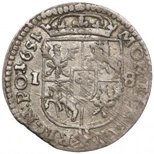 Jan II Kazimierz, Ort Wschowa 1651 - bez MW - rzadki