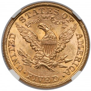 USA, 5 dollars 1882