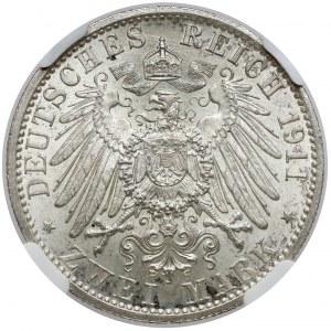 Lübeck, 2 mark 1911-A, Berlin