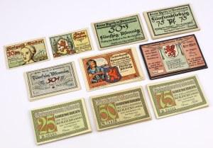 PAKIET notgeldów z Pomorza (~124szt)