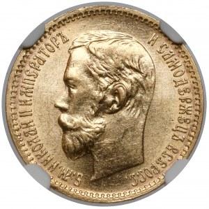 Rosja, Mikołaj II, 5 rubli 1902 AP, Petersburg