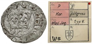 Władysław II Jagiełło, Półgrosz Kraków - typ 19 - znaki W‡ - ex. Kałkowski
