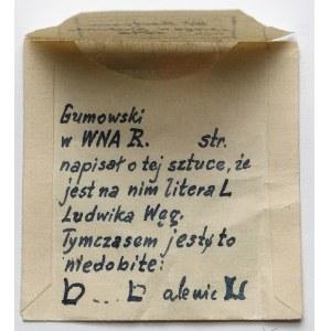 Jadwiga Andegaweńska, Denar Kraków - litera h - opisywany w literaturze - ex. Kałkowski