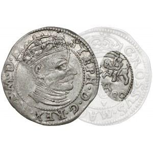 Stefan Batory, Grosz Wilno 1580 - BEZ TARCZ - b.rzadki