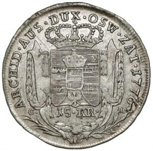Ks. oświęcimsko-zatorskie, 15 krajcarów 1776, Wiedeń