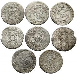 Zygmunt III Waza, Szelągi ryskie - zestaw (8szt)