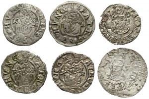 Zygmunt III Waza, Szeląg Wilno 1615 i Węgry Denary - zestaw (6szt)