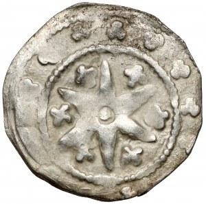Śląsk, Księstwo głogowskie, Henryk III (1279-1309) Kwartnik - gwiazda